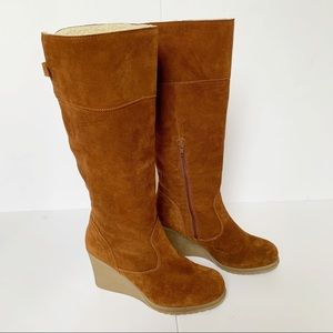 """Bjorndal Tall Suede """"Lyndall"""" Wedge Boots"""